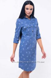 Платье- рубаха Тейли 42-52 р