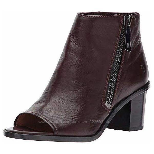 Женские ботинки с открытым носком frye brielle zip peep bootie boot оригина