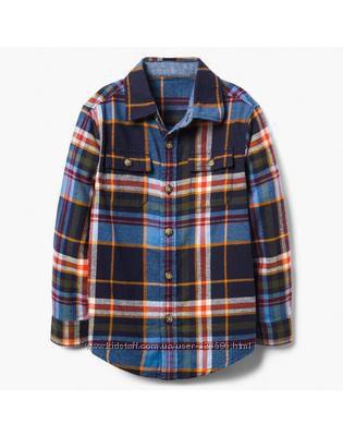 Фланелевая рубашка для мальчика 4-6 лет Gymboree