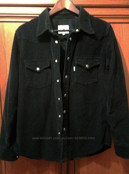 Рубашка вельветовая XL