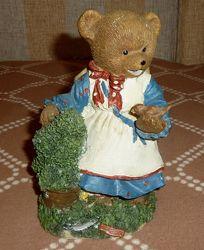 Статуэтка медведица с птичкой Seneca Designer 1990-е Германия 18 см