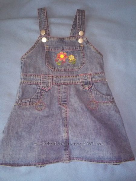 Сарафанчики  джинсовые бу на девочку р86 , 92Topolino, Outfit