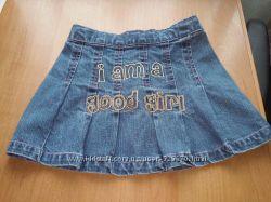 Джинсовые юбочки бу для девочки , р. 98, 104 Palomino
