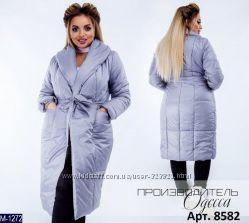 Зимняя куртка пальто удлиненная в расцветках асорти размер 42-54