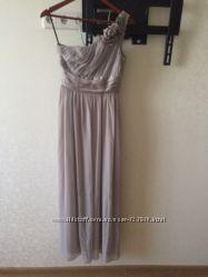 Длинное платье на одно плечо h&m