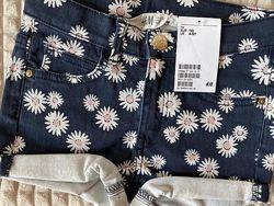 Джинсовые шорты для девочки 110р h&m