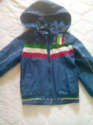 Куртка ветровка на флисе Италия на 6-8 лет рост 122-134 дешево