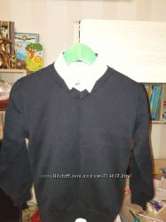 Свитер джемпер в школу классика на 6-7 лет рост 116-128 см хлопок