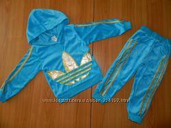 Детский спортивный велюровый костюм