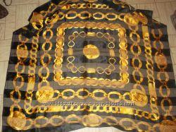 Платок chanel шанель большой черный