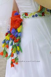 Свадебное  платье оригинальное, аксессуары, колье, туфли для невесты