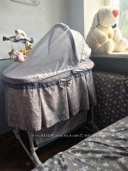 Кроватка-колыбель Milly Mally Sweet Melody, в подарок новая этажерка