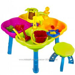 Песочница детская стол с набором и стульчиком