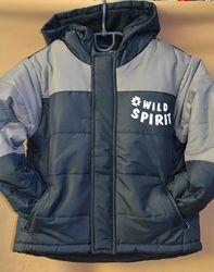деми куртка Lupilu мальчику 92 размер темно-синяя с серым