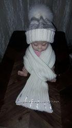 Regina комплект шапка и шарф на девочку