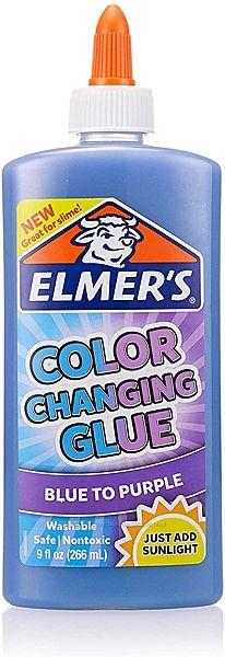 Элмерс Elmer&acutes клей для слаймов 266 мл оригинал меняет цвет синий пурп
