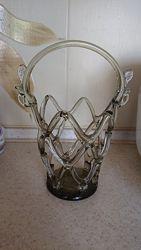 Красивая хрустальная ваза, корзинка СССР, конфетница советская