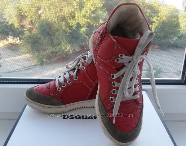 Яркие кожаные ботинки-кроссовки Dsquared2. Оригинал.