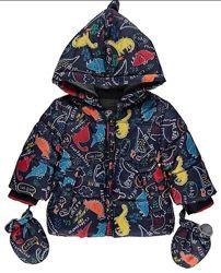 Тепла куртка George в динозаври на хлопчика 18-24 міс