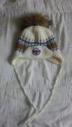 зимняя шапка на мальчика с натуральным мехом