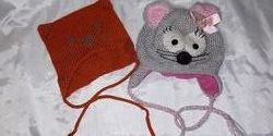 прикольные шапочки кошечки для девочек 2-3 года