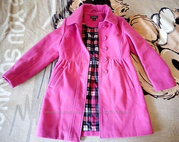 Розовое пальто George с карманами на пуговицах девочке деми б-у