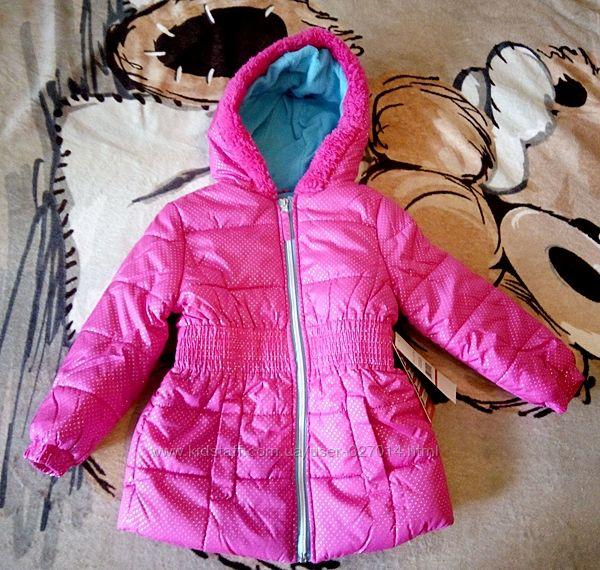 Розовая куртка демисезонная 3-4 года Pink Platinum с флисом девочке