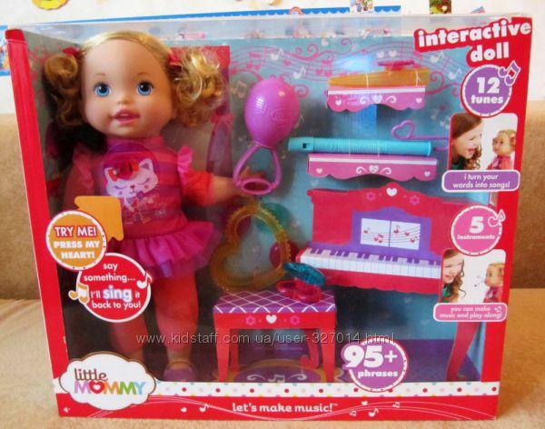 Интерактивная кукла пупс Fisher Price Little Mommy из США игрушки девочкам