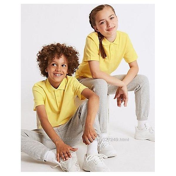 Жёлтые футболки-поло в школу Matalan Англия
