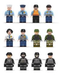 Фигурки, человечки, военные, спецназ, солдаты  лего, lego аналог