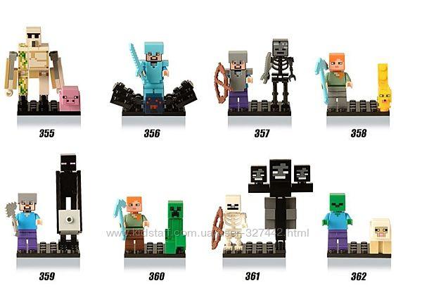 Фигурки, человечки майнкрафт лего lego аналог