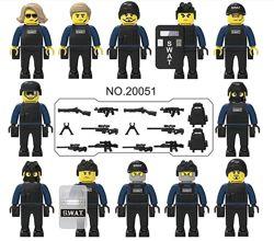 Фигурки, человечки, спецназ лего, lego аналог