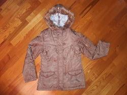 Женская куртка парка демисезонная. Размер 34.
