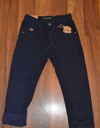 Школьные брюки на флисе синие и черные 116-152см структурная ткань Taurus