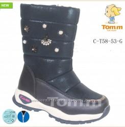 Термосапожки для девочек Tom. M 5853, р. 28