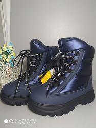 Термо ботинки Tom. M 7708 синий, р 27-32