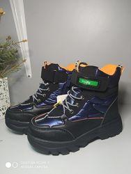 Термо ботинки Tom. M 7712 оранж, р 27-32