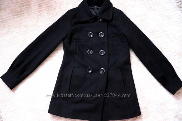 Пальто шерстяное двубортное XS