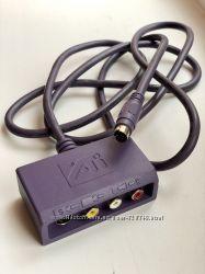 Кабель переходник адаптер mini-DIN 8 pin на S-video и RCA Composite