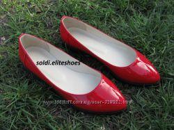 Балетки на толстой подошве, нат. кожа ТМ SOLDI люксовая обувь