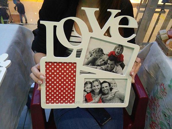 Фоторамки с надписями Love, Family, Friens, Сімья