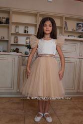 Нарядное платье с модными рукавами