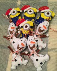Новогодние игрушки из фетра Hand Made