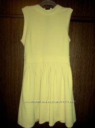 Летнее платье, красиво лимонного цвета