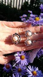 Комплект украшений из серебра Свидание