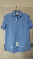 Фирменная качественная хлопковая рубашка С&А размер М или наш 52