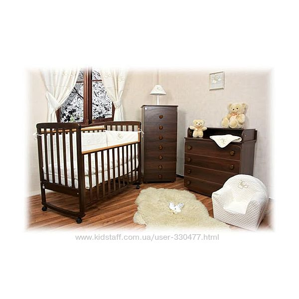 Кроватка детская Верес Соня ЛД12 орех