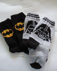 Вязаные носки Darth Vader  Batman