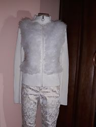Теплый пушистый свитер на молнии, EUR 42-44
