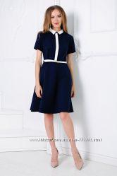 6218dd69510 Милое синее платье с воротничком Новинка